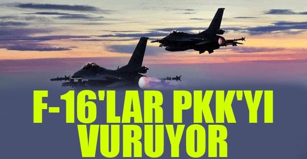 F-16'lar PKK'yı vuruyor