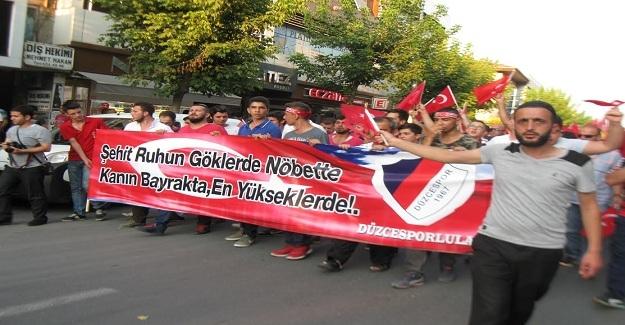Düzce'de PKK Terörüne Karşı Yürüyüş