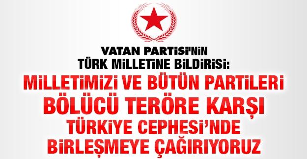 Vatan Partisi'nin Türk Milletine Bildirisi