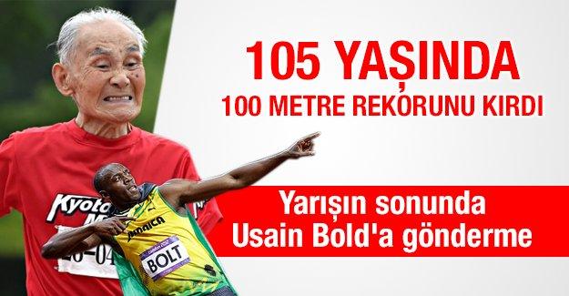105 yaşında 100 metre rekorunu kırdı
