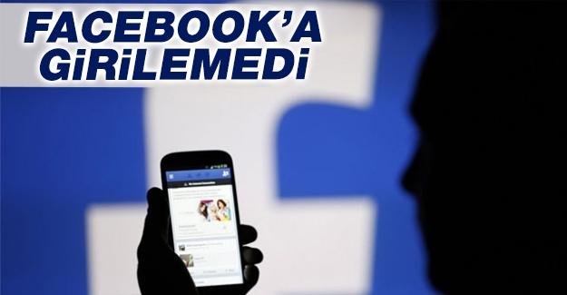 Facebook'a girilemedi