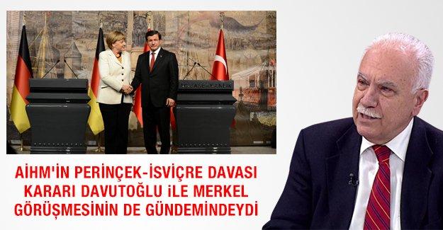 AİHM'in Perinçek-İsviçre davası kararı Davutoğlu  Merkel görüşmesinin de gündemindeydi