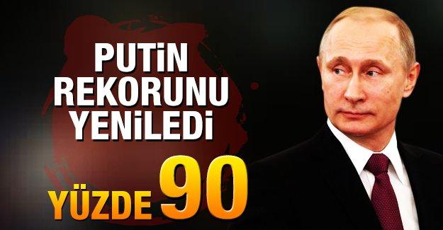 Putin'i destekleyenlerin oranı yüzde 90'a ulaştı