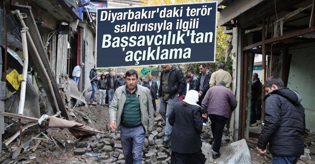 Diyarbakır'daki terör saldırısıyla ilgili Başsavcılık'tan açıklama