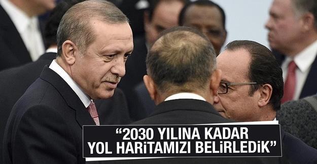 Erdoğan, Paris'teki İklim Zirvesi'nde konuştu