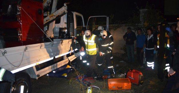Vinç altında kalan operatör ağır yaralandı