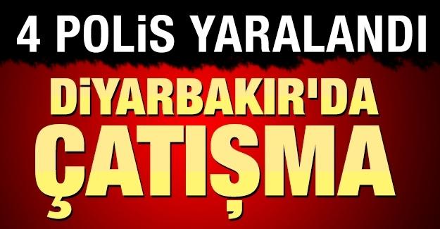 Diyarbakır'ın Sur ilçesinde çatışma: 4 polis yaralandı