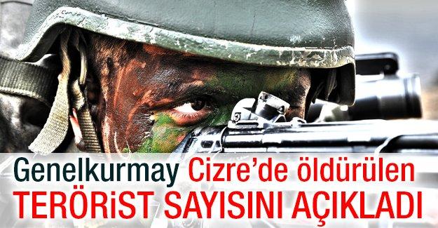 Genelkurmay Cizre'de öldürülen terörist sayısını açıkladı