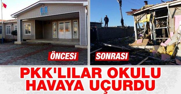 PKK'lılar okulu havaya uçurdu