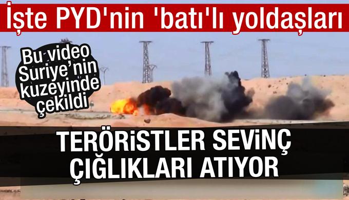 """Terörislerin """"vurduk"""" dediği bomba yüklü aracı Batılı askerler vurdu"""