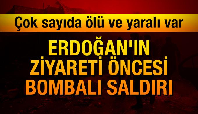 Erdoğan'ın ziyareti öncesi bombalı saldırı: Çok sayıda ölü ve yaralı var