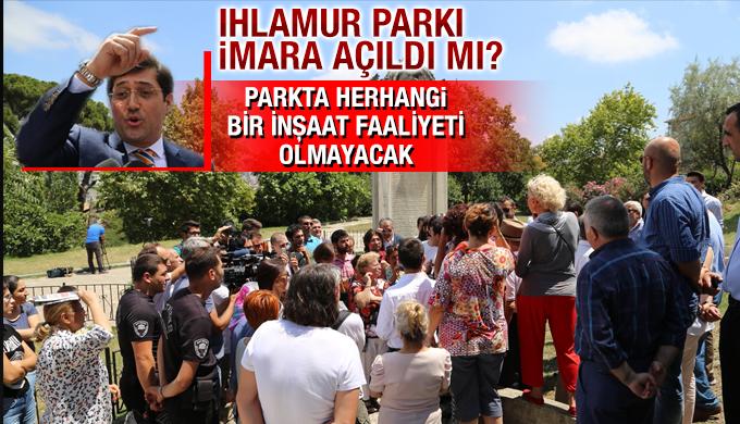 Hazinedar: Parkta herhangi bir inşaat faaliyeti olmayacak