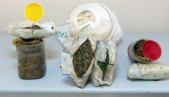 Peynir ve üzüm yaprağı bidonlarına uyuşturucu gizlenmiş