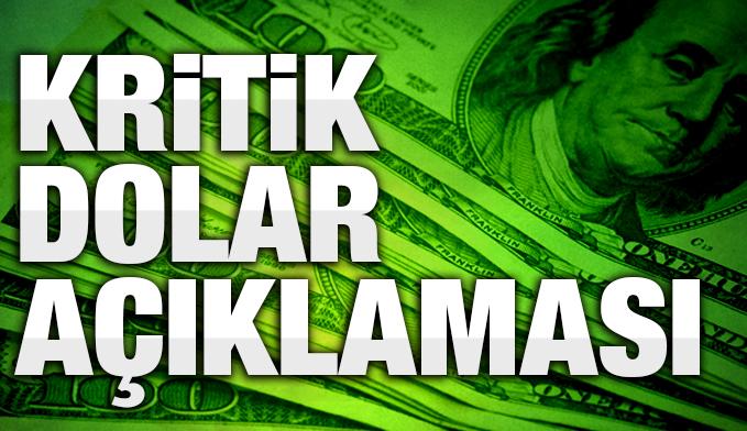 Gümrük ve Ticaret Bakanı Tüfenkci'den dolar açıklaması