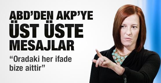 ABD'den AKP'ye üst üste mesajlar