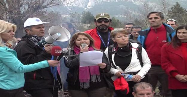 Antalya'da Mermer Ocağı istemeyen köylüler direniş çadırı kurdu