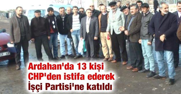 Ardahan'da 13 kişi CHP'den istifa ederek İşçi Partisi'ne katıldı