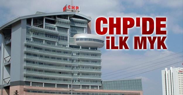 CHP'de ilk MYK