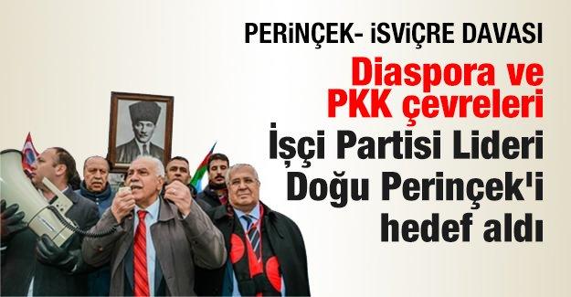 Diaspora ve PKK çevreleri İşçi Partisi Lideri Doğu Perinçek'i hedef aldı