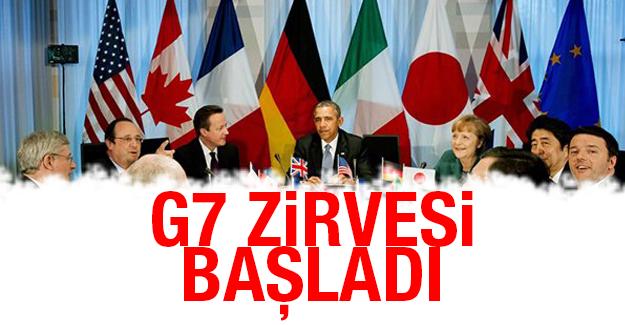 G7 zirvesi başladı!
