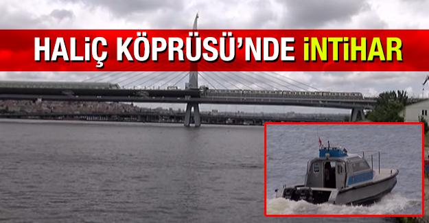 Haliç Köprüsü'nden intihar