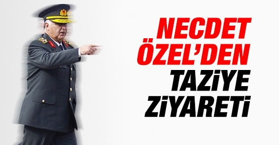 Necdet Özel'den taziye ziyareti