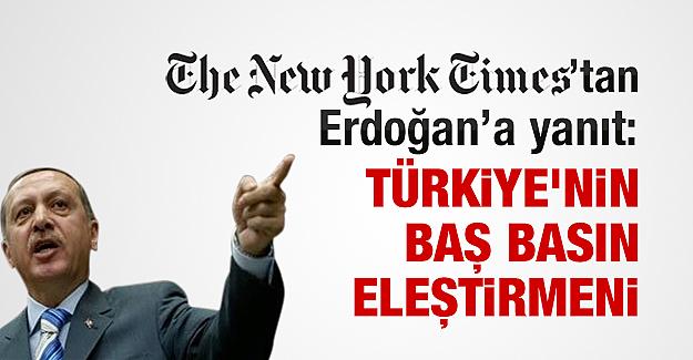New York Times'tan Tayyip Erdoğan'a yanıt