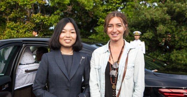 Rekortmen dalışçı, Japonya prensesi ile buluştu