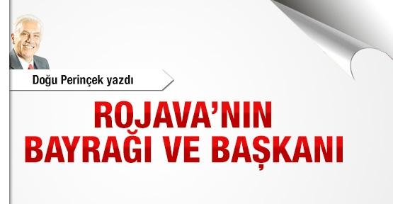 Rojava'nın bayrağı ve başkanı