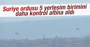 Suriye ordusu 5 yerleşim birimini daha kontrol altına aldı