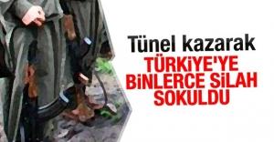 Tünel kazarak Türkiye'ye binlerce silah sokuldu