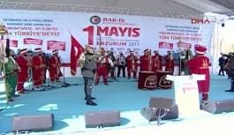 Hak-İş Konfederasyonu Erzurum'da 1 Mayıs'ı kutladı