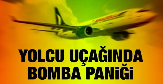 Yolcu uçağında bomba paniği