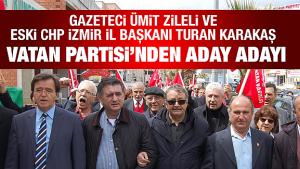Gazeteci Ümit Zileli ve Eski CHP İzmir İl Başkanı Turan Karakaş Vatan Partisinden aday adayı